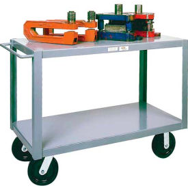 Modern Equipment MECO HSC24-26 Husky 2 Shelf Service Cart 24x72 Phenolic 4000 Lb. by