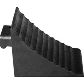 Wheel Chock Black 6 In W x 3 1//4 In H