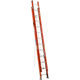 Werner 20' Type 1A Lightweight Fiberglass Extension Ladder 300 lb. Cap - D6420-2