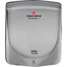World Dryer VERDEdri Hand Dryer -  Brushed SS -  Q-973A