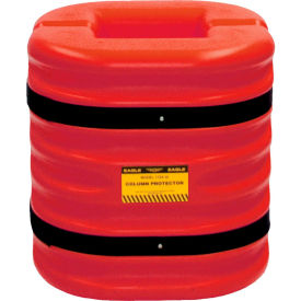"Eagle Column Protector, 8"" Column Opening, 24"" High, Red, 1724-8-RED"