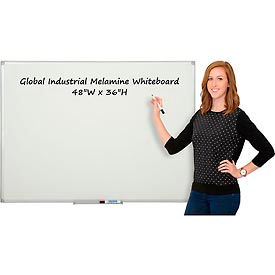 Melamine Dry Erase Whiteboard - 48 x 36 - Double Sided
