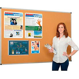 Cork Bulletin Board - 72 x 48 - Aluminum Frame