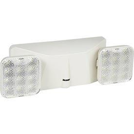 Global™ 2 Head Square LED Emergency Unit w/ Adjustable Optics and Ni-Cad Battery Backup