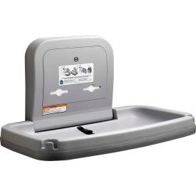 Koala Kare® Horizontal Baby Changing Table W/ Stainless Steel - Gray KB200-01SS