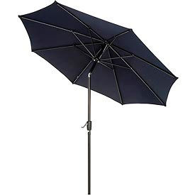 Outdoor Umbrella  -Tilt Mechanism - Olefin - 8-1/2', Navy Blue