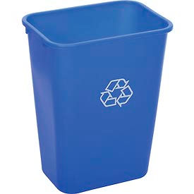 Global Industrial™ 41-1/4 Qt. Plastic Recycling Wastebasket - Blue