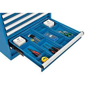"Divider Kit for 4""H Drawer of Global™ Modular Drawer Cabinet 30""Wx27""D, Blue"