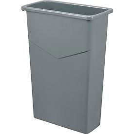 Global Industrial™ 23 Gallon Slim Trash Container - Gray