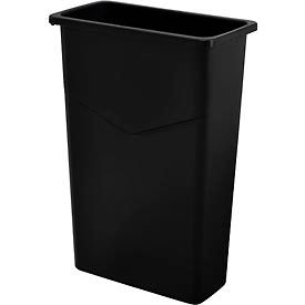 Global Industrial™ 23 Gallon Slim Trash Container - Black