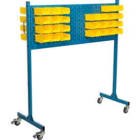 "60"" W Louver Panel Rack, Blue"