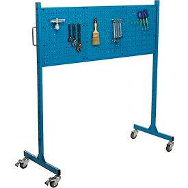 "60"" W Pegboard Panel Rack, Blue"