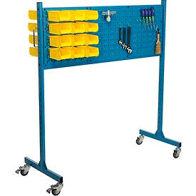 "60"" W Louver/ Pegboard Panel Rack, Blue"