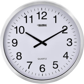 """Oversized Wall Clock - 20"""" - Aluminum"""