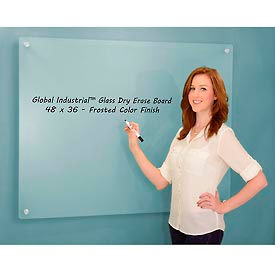 Frosted Glass Dry Erase Board - 48 x 36