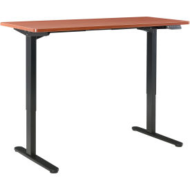 "Standing Desk with Electric Height Adjustment - 72""W X 24""D - Cherry"