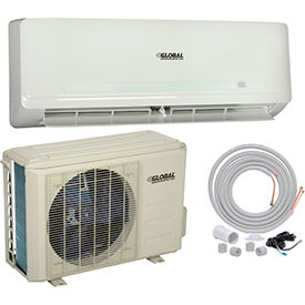 Ductless Air Conditioner Split System 24000 BTU Cool, 24000 BTU Heat, SEER 20