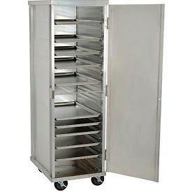 "Nexel®  ETC2127 Enclosed Mobile Transport Cabinet, 68""H, 40 Pan Capacity, Aluminum"