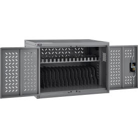 16 Device Charging Cabinet For Chromebooks Laptops And Ipad Tablets Gray