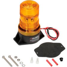 High-Profile Amber LED Permanent Mount Forklift Strobe Light - 12 to 110 Volts