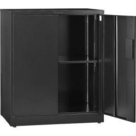 "Global™ EZ Assemble Steel Storage Cabinet 36""W x 18""D x 42""H Black"