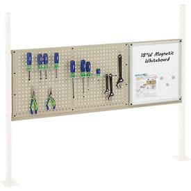 """Mounting Kit with 18""""W Whiteboard and 36""""W Pegboard for 60""""W Workbench- Tan"""