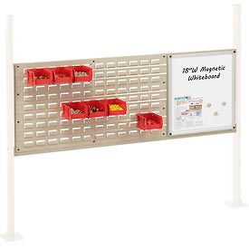 """Mounting Kit with 18""""W Whiteboard and 36""""W Louver for 60""""W Workbench- Tan"""