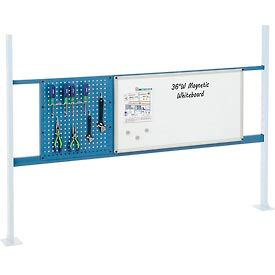 "Mounting Kit with 18""W Pegboard and 36""W Whiteboard for 72""W Workbench- Blue"