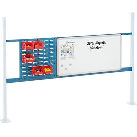 """Mounting Kit with 18""""W Louver and 36""""W Whiteboard for 72""""W Workbench - Blue"""