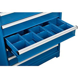"""Dividers for 6""""H Drawer of Global™ Modular Drawer Cabinet 36""""Wx24""""D, Blue"""