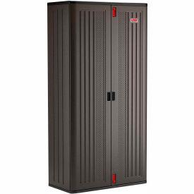 Cabinets Plastic Suncast Mega Tall Storage Cabinet 4 Shelf Bmccpd8004 40 W X 20 1 D 80
