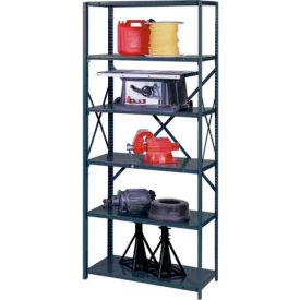 "Edsal - UltraCap 6-Shelf Industrial Shelving UC5117, 48""W x 24""D x 85""H - 750 lb Cap, Gray"