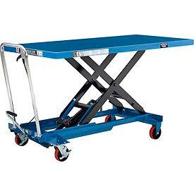Long Deck Mobile Scissor Lift with Oversized 63 x 32 Platform 1100 Lb. Cap.