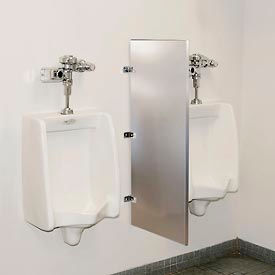 Global Industrial™ Bathroom Stainless Steel Urinal Screen 18 x 42
