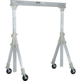Global Industrial Aluminum Gantry Crane-KD, Adj. Height, 4000lb Load Capacity, I Beam Width 12ft by