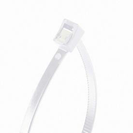 "Gardner Bender 46-308SC 8"" Self-Cutting Cable Ties, Natural, 50lb, 50/pk, 2"" Max Dia, Twist Tail"