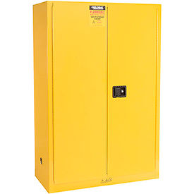 "Global™ Flammable Cabinet - 45 Gallon Manual Close Double Door - 43""W x 18""D x 65""H"