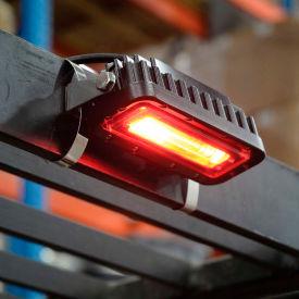"""LED Forklift """"Red Zone"""" Side-Mount Pedestrian Safety Warning Light"""