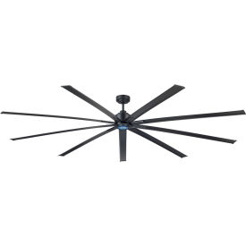 Industrial Ceiling Fan 72 inch, Gray, 6 Speeds with controller
