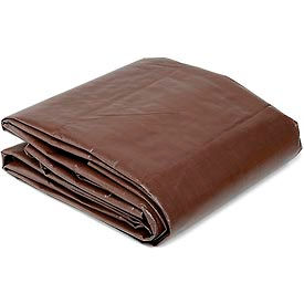 Global™ 10' x 20' Super Heavy Duty 8 oz. Tarp Brown