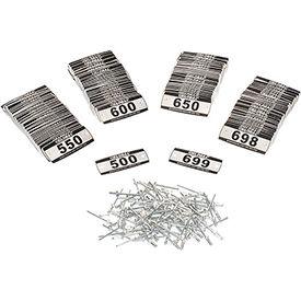 Global Locker Number Plate Kit - Pkg of 200 Numbered  500-699