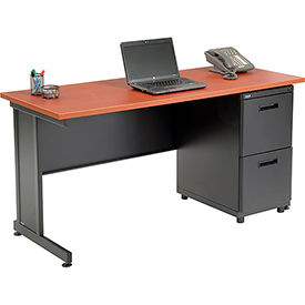 """Office Desk with 2 Drawers - 60"""" x 24"""" - Cherry"""