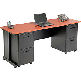 """Office Desk with 4 drawers - 72"""" x 24"""" - Cherry"""