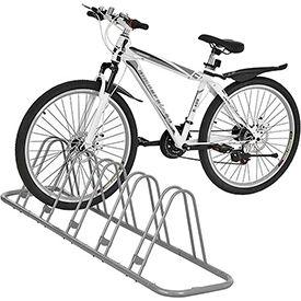Global Industrial™ Bicycle Parking Rack, Adjustable, 5-Bike Capacity, Single Sided Version