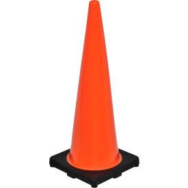"""36"""" Traffic Cone, Non-Reflective, Black Base, 10 lbs"""