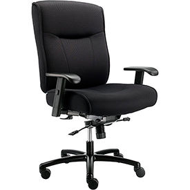 Big and Tall Office Chair with Arms - Fabric - Center Tilt