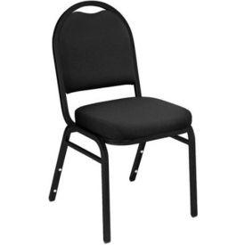 "Banquet Chair - Fabric - 2"" Seat - Black - Pkg Qty 4"