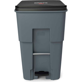 Rubbermaid Brute® Step-On Rollout Waste Container 95 Gallon Gray - 1971991