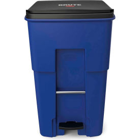 Rubbermaid Brute® Step-On Rollout Waste Container 95 Gallon Blue - 1971993