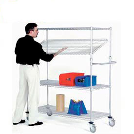 Quick Adjust Chrome Wire Shelf Trucks